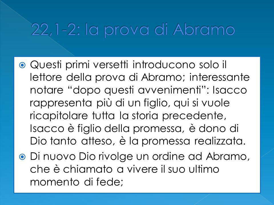 22,1-2: la prova di Abramo