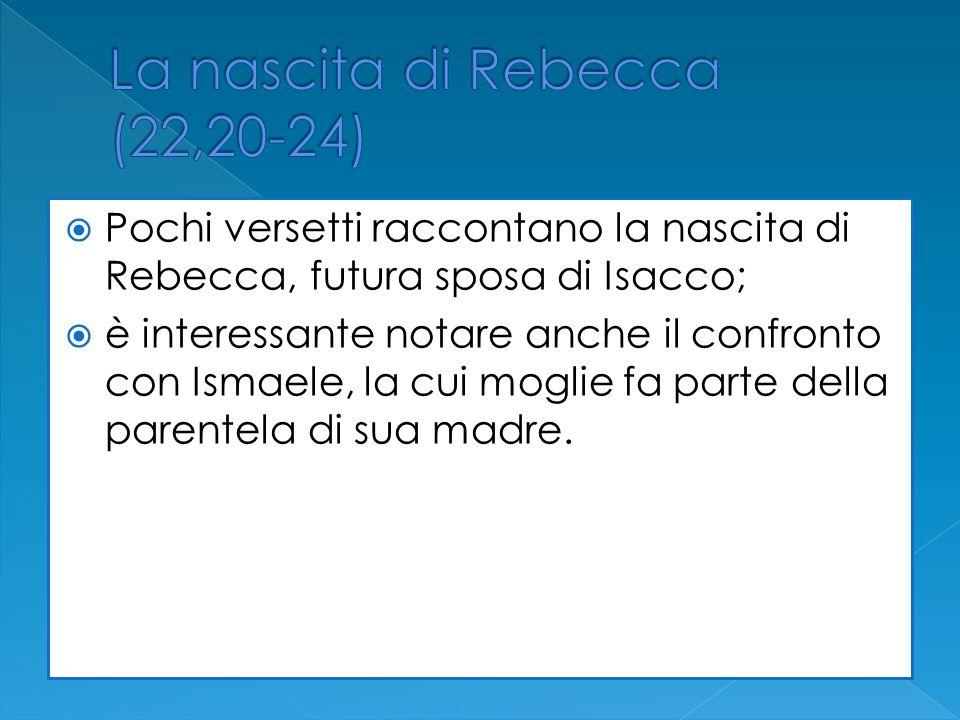 La nascita di Rebecca (22,20-24)