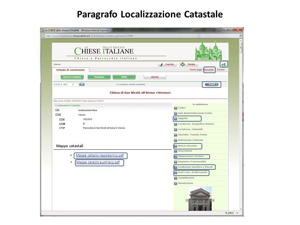 Paragrafo Localizzazione Catastale