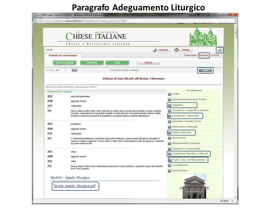 Paragrafo Adeguamento Liturgico