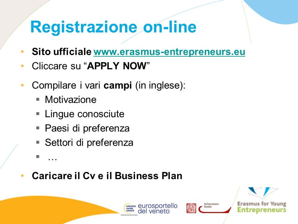Registrazione on-line