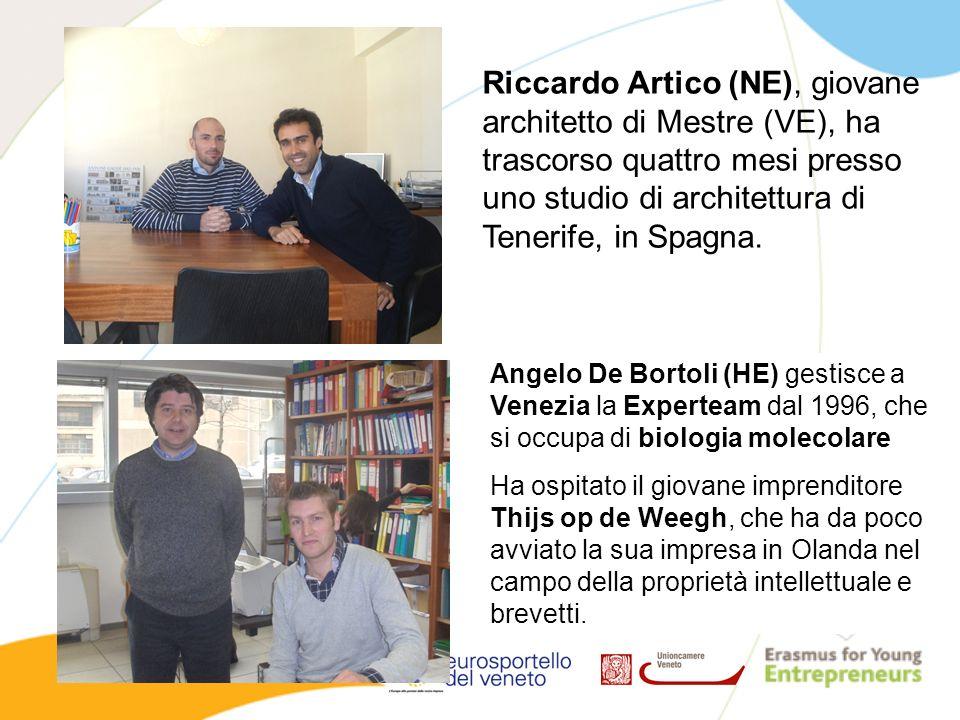 Riccardo Artico (NE), giovane architetto di Mestre (VE), ha trascorso quattro mesi presso uno studio di architettura di Tenerife, in Spagna.