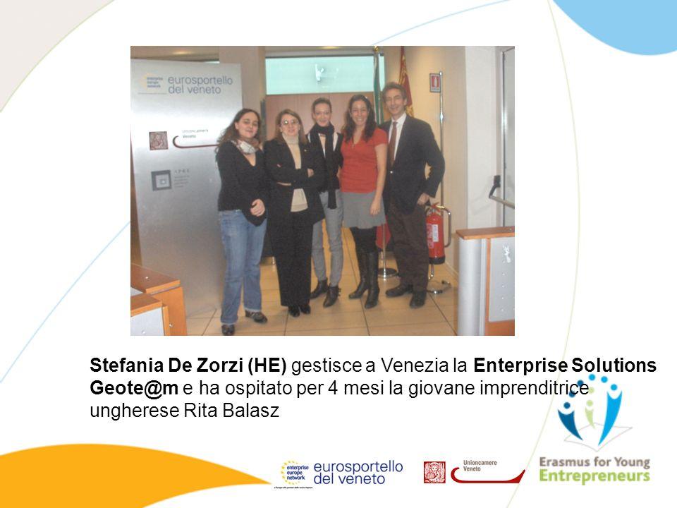 Stefania De Zorzi (HE) gestisce a Venezia la Enterprise Solutions Geote@m e ha ospitato per 4 mesi la giovane imprenditrice ungherese Rita Balasz