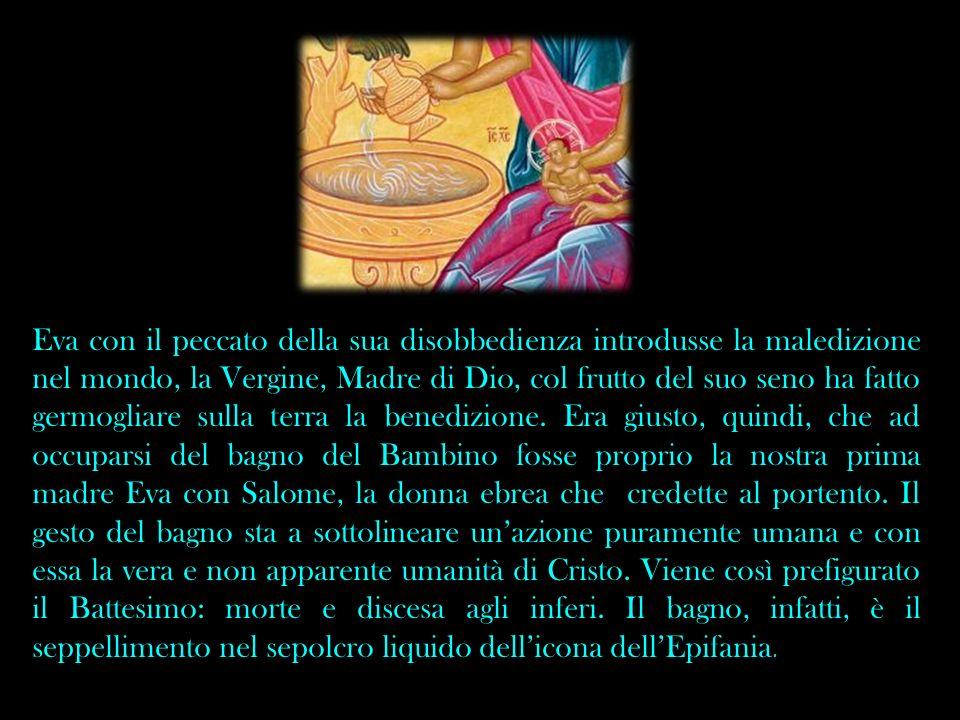 Eva con il peccato della sua disobbedienza introdusse la maledizione nel mondo, la Vergine, Madre di Dio, col frutto del suo seno ha fatto germogliare sulla terra la benedizione.
