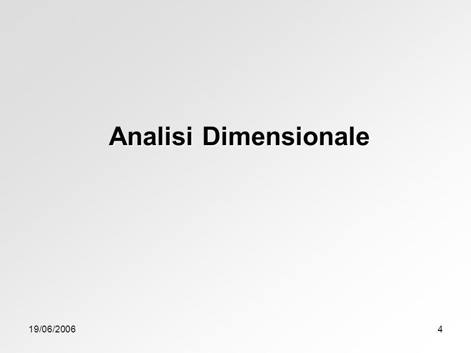 Analisi Dimensionale 19/06/2006
