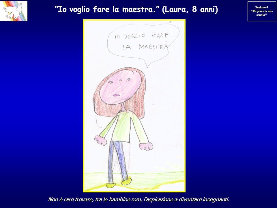 Io voglio fare la maestra. (Laura, 8 anni)