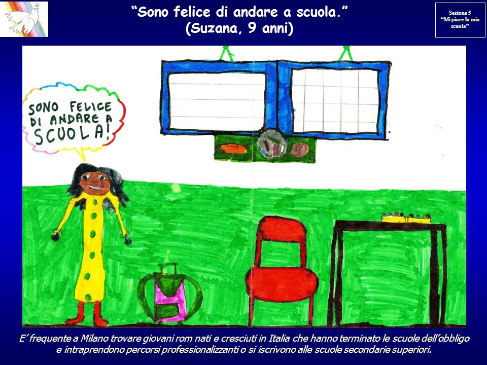 Sono felice di andare a scuola. (Suzana, 9 anni)