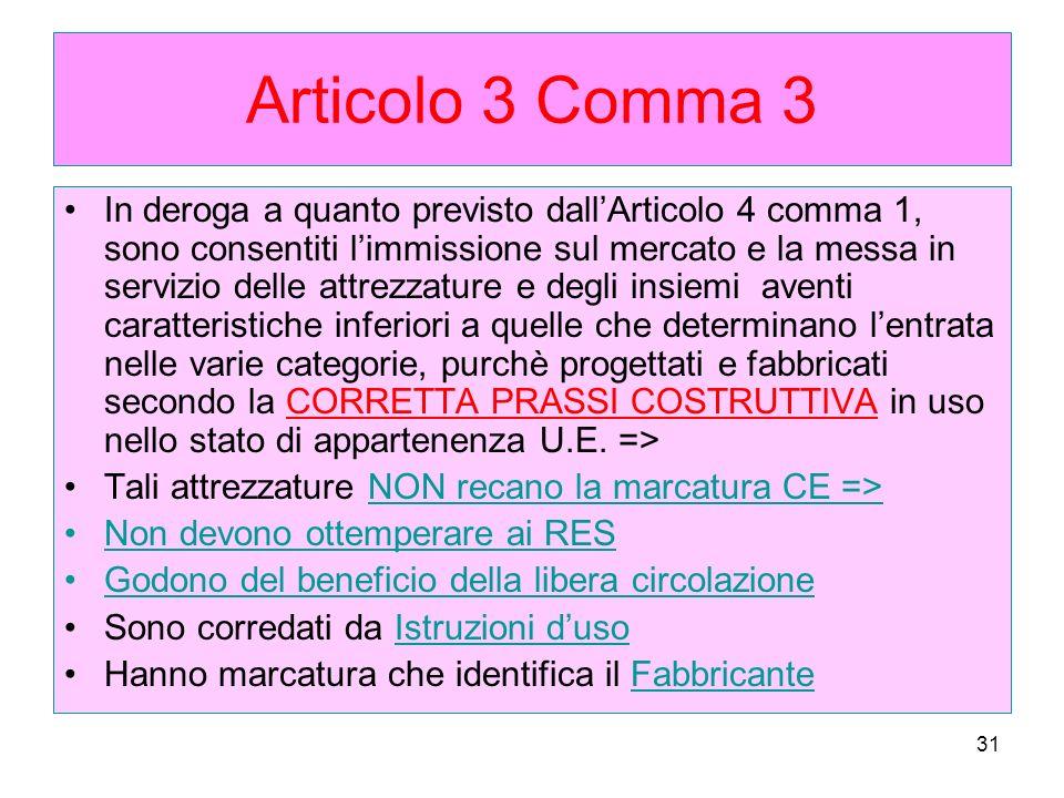 Articolo 3 Comma 3