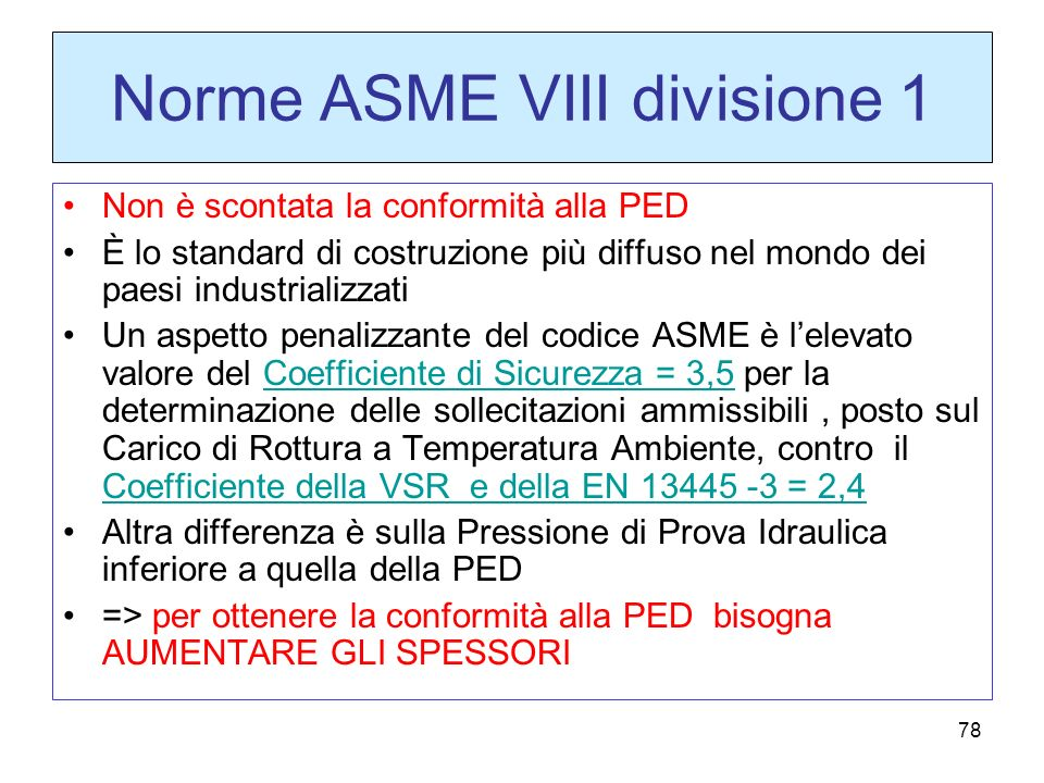 Norme ASME VIII divisione 1