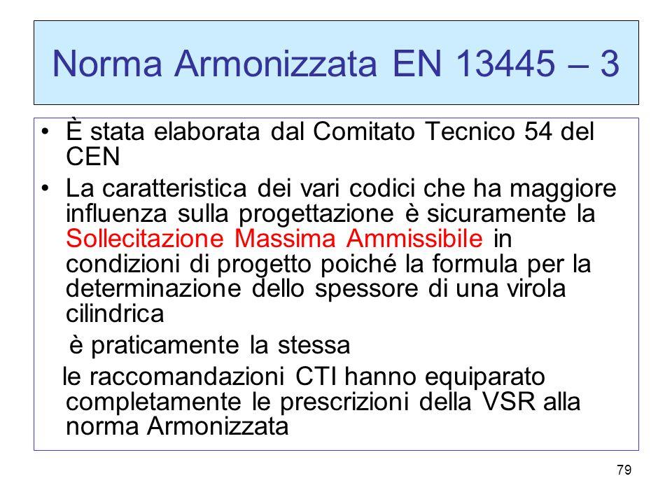 Norma Armonizzata EN 13445 – 3 È stata elaborata dal Comitato Tecnico 54 del CEN.
