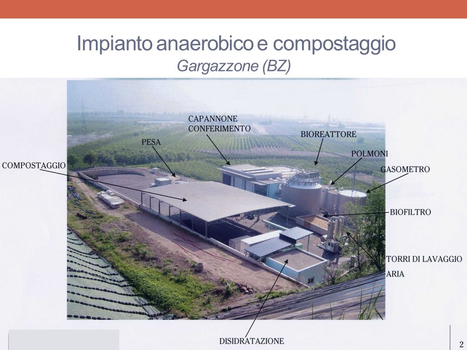 Impianto anaerobico e compostaggio Gargazzone (BZ)