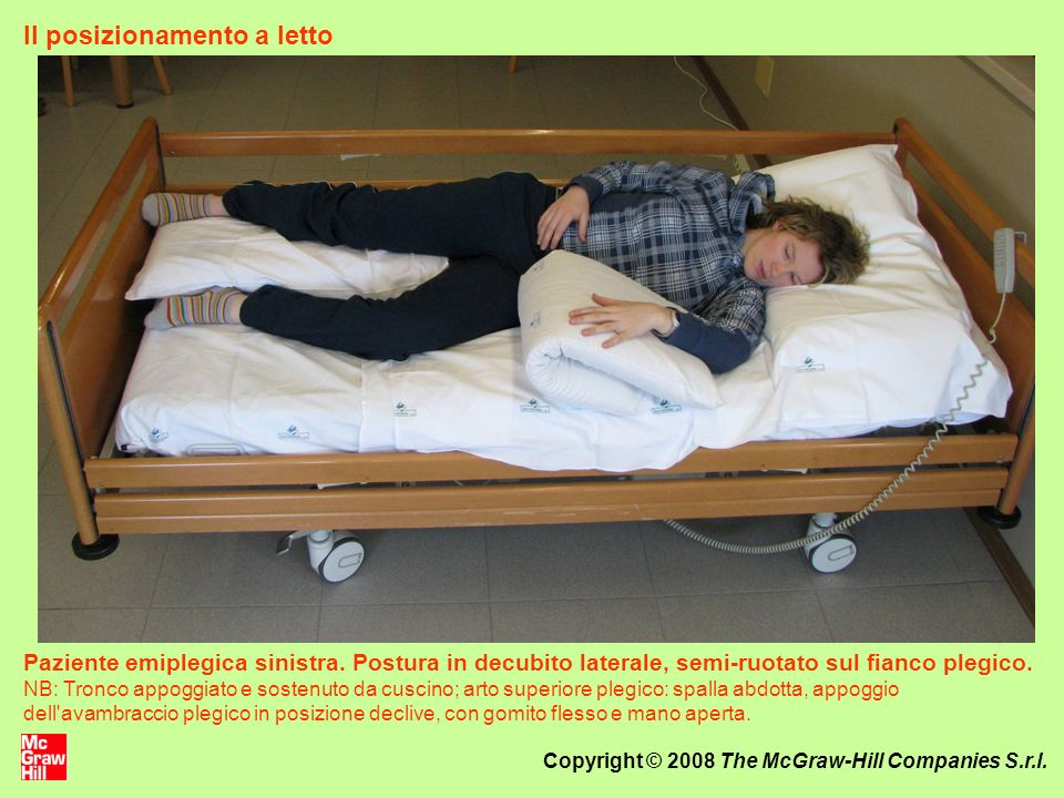 Il posizionamento a letto