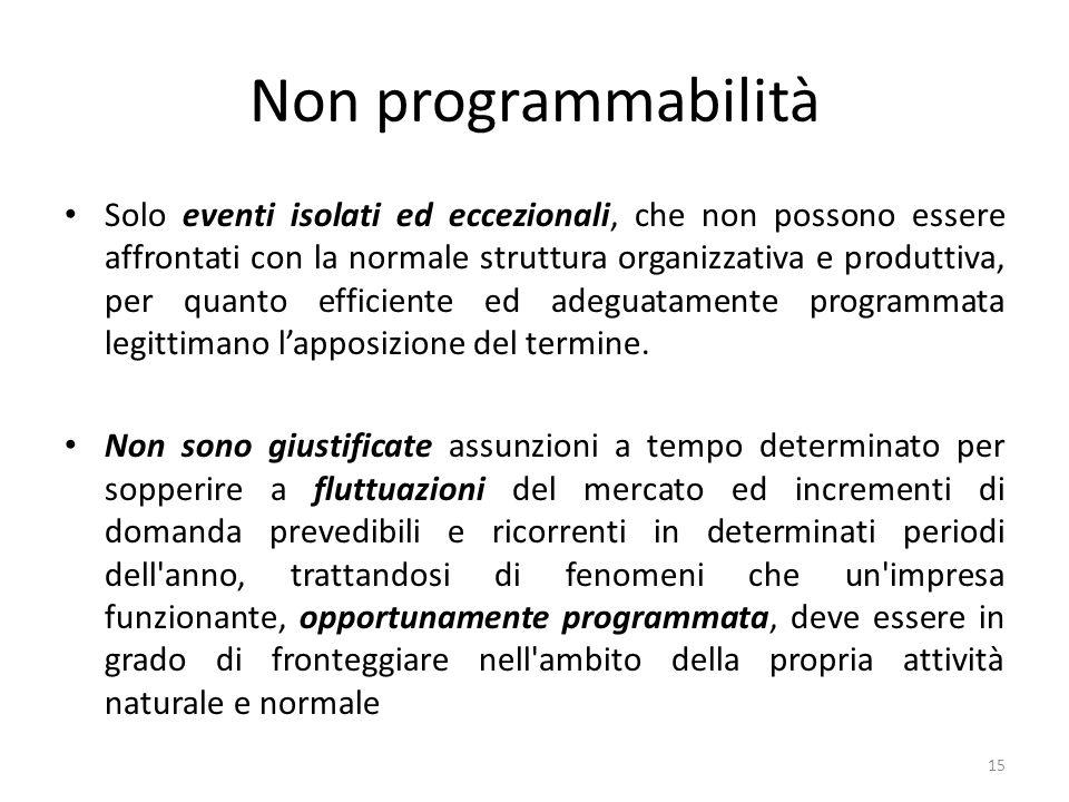 Non programmabilità