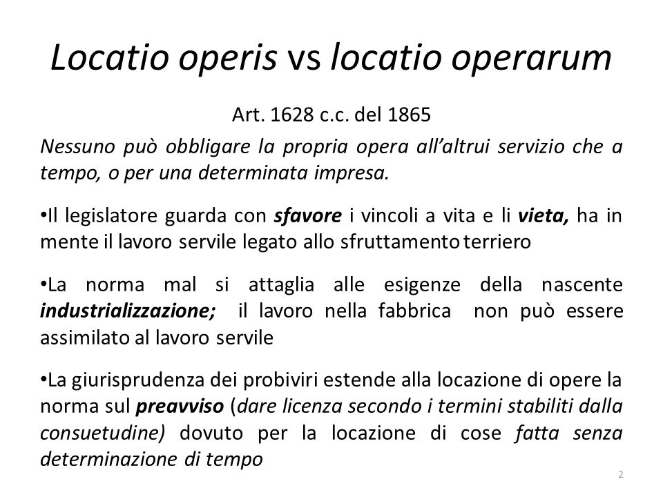 Locatio operis vs locatio operarum