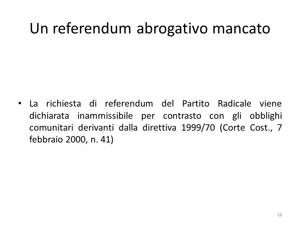 Un referendum abrogativo mancato