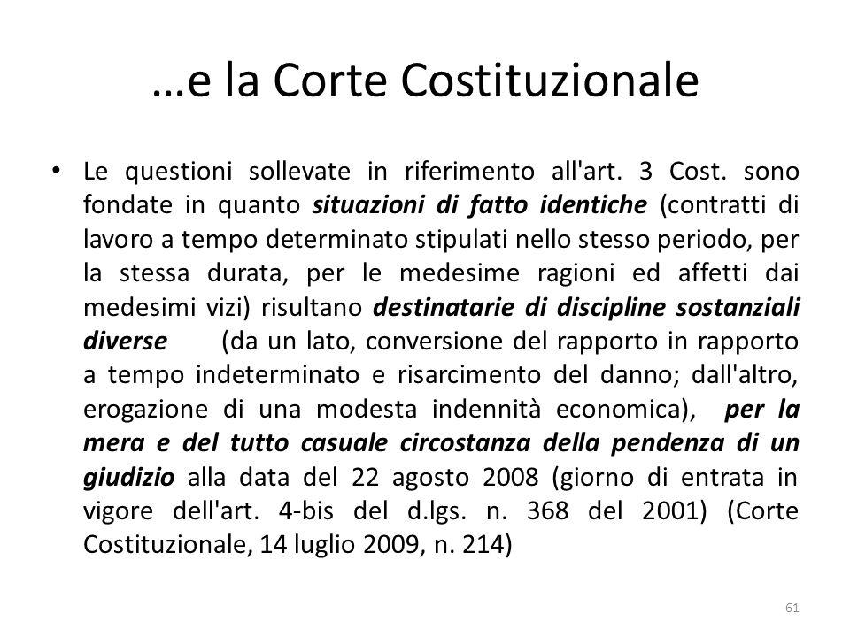 …e la Corte Costituzionale