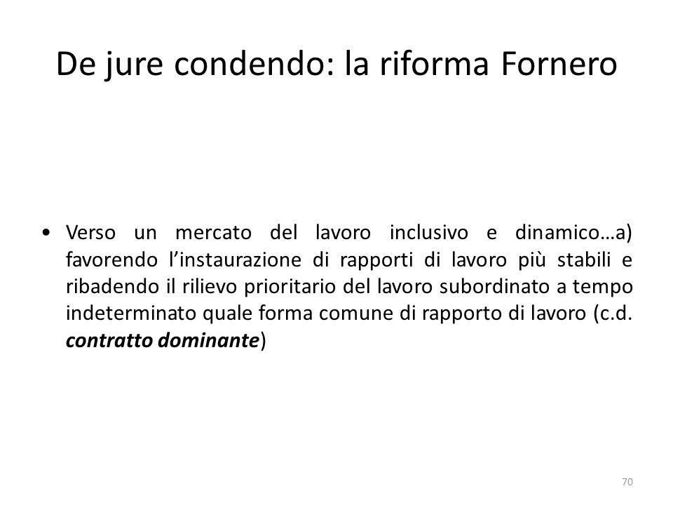 De jure condendo: la riforma Fornero