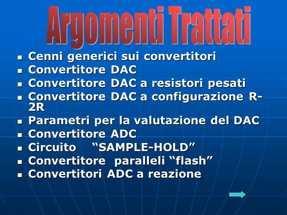 Argomenti Trattati Cenni generici sui convertitori Convertitore DAC