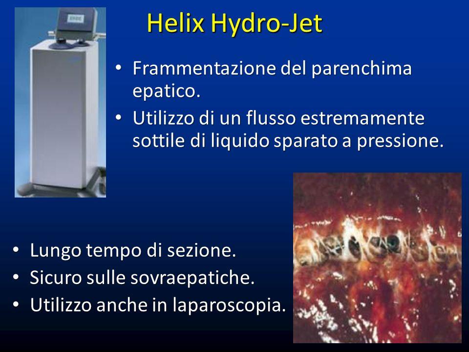 Helix Hydro-Jet Frammentazione del parenchima epatico.