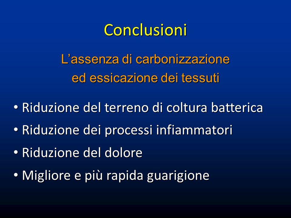 Conclusioni Riduzione del terreno di coltura batterica