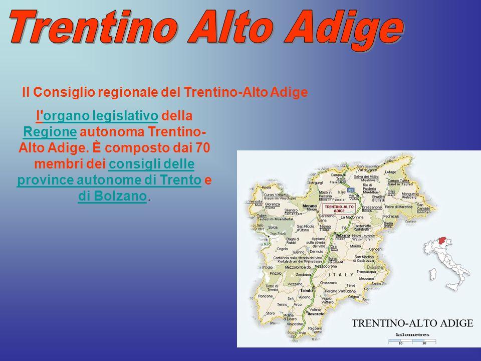 Trentino Alto Adige Il Consiglio regionale del Trentino-Alto Adige