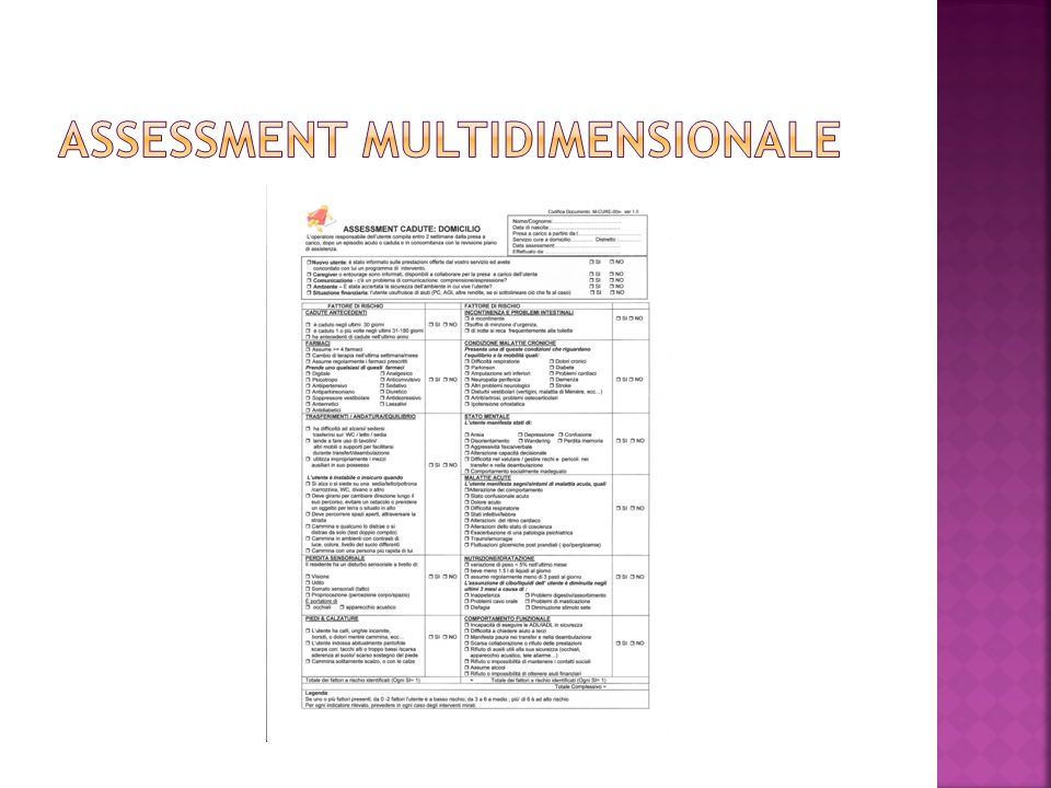 Assessment multidimensionale