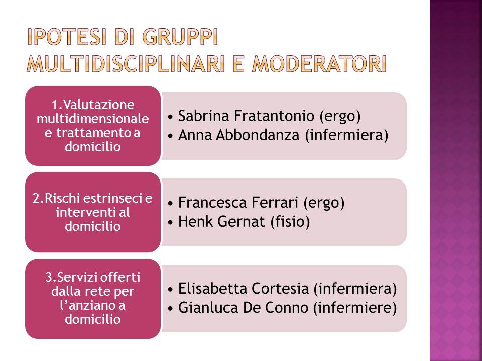 Ipotesi di gruppi multidisciplinari e moderatori