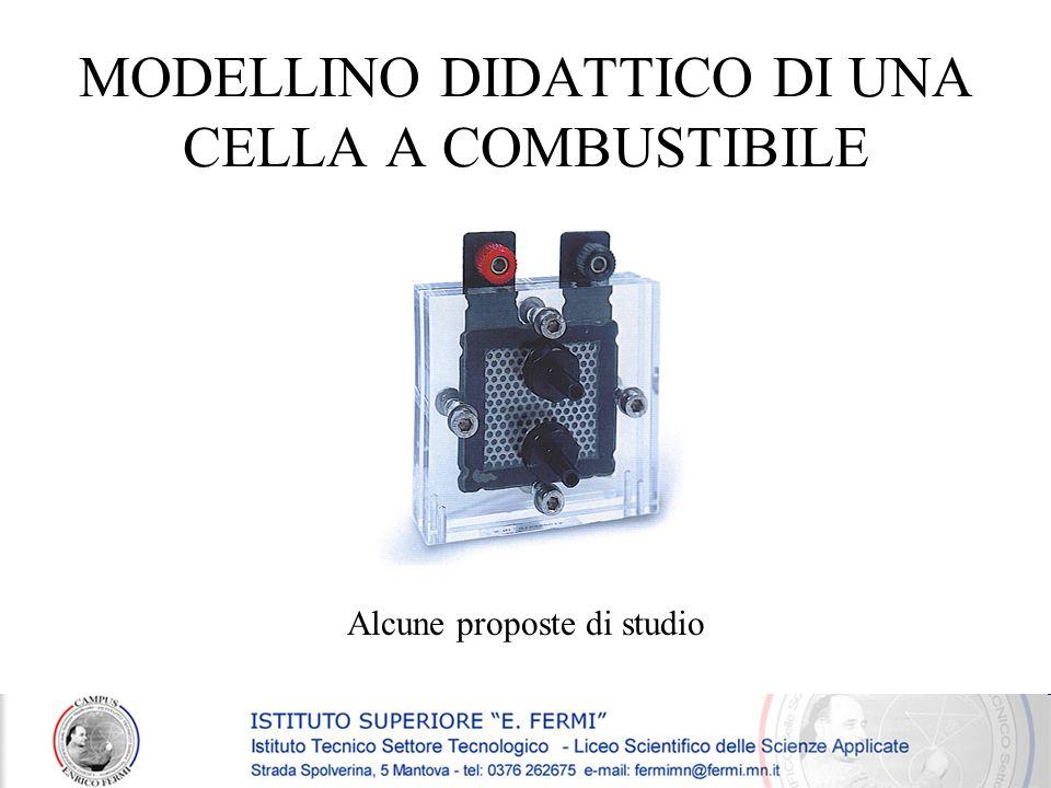 MODELLINO DIDATTICO DI UNA CELLA A COMBUSTIBILE