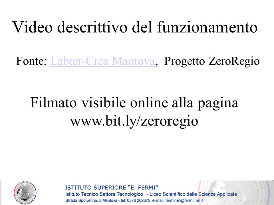 Video descrittivo del funzionamento
