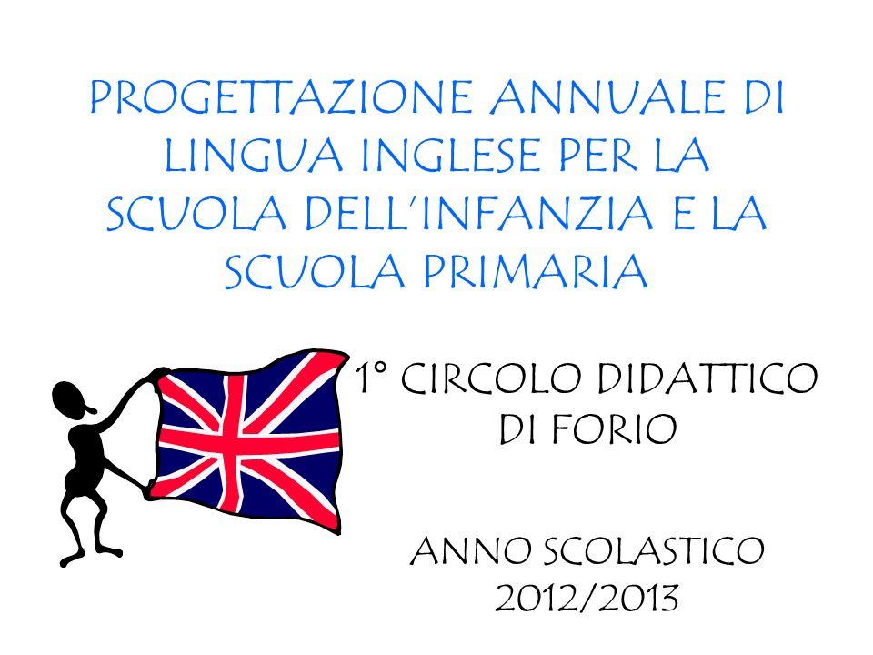 1° CIRCOLO DIDATTICO DI FORIO ANNO SCOLASTICO 2012/2013