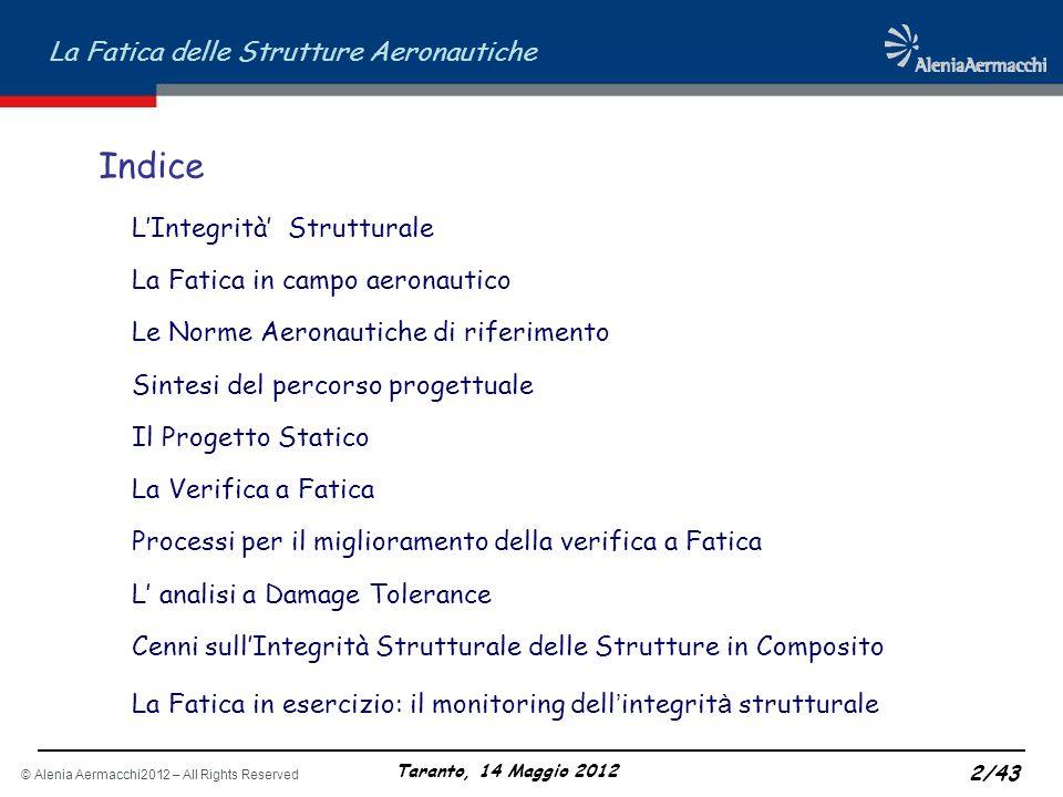 Indice L'Integrità' Strutturale La Fatica in campo aeronautico