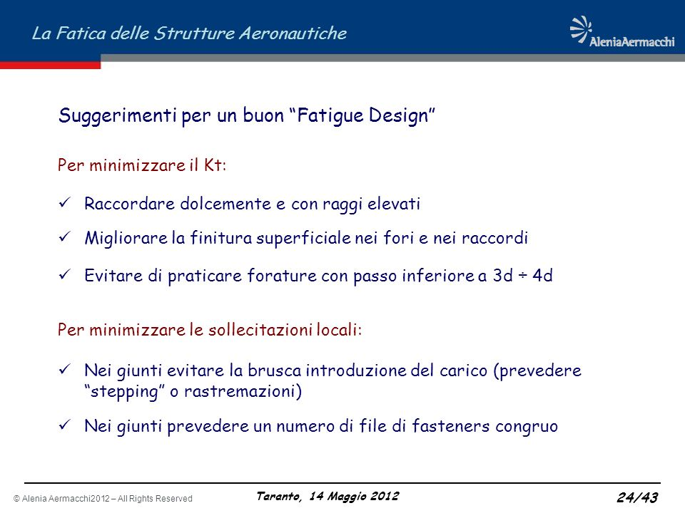 Suggerimenti per un buon Fatigue Design