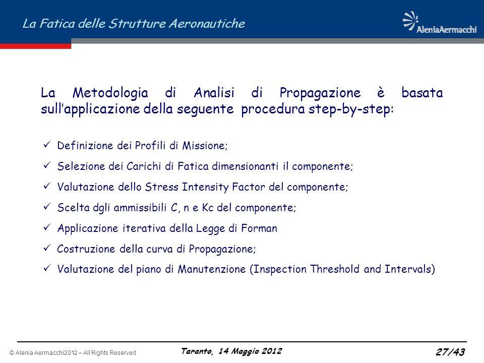 La Metodologia di Analisi di Propagazione è basata sull'applicazione della seguente procedura step-by-step: