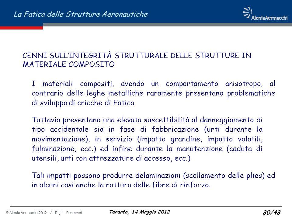 CENNI SULL'INTEGRITÀ STRUTTURALE DELLE STRUTTURE IN MATERIALE COMPOSITO