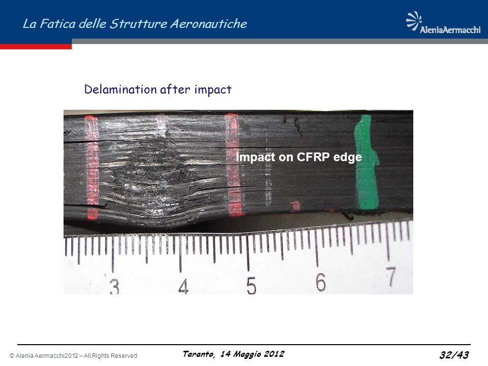 Delamination after impact