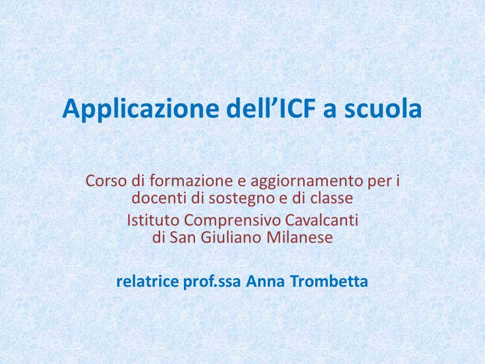 Applicazione dell'ICF a scuola