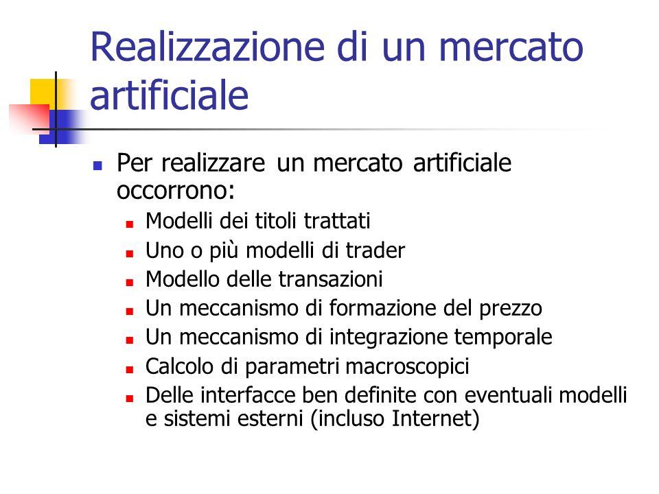 Realizzazione di un mercato artificiale