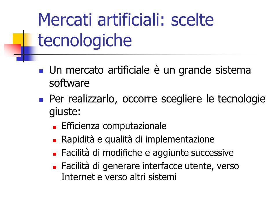 Mercati artificiali: scelte tecnologiche