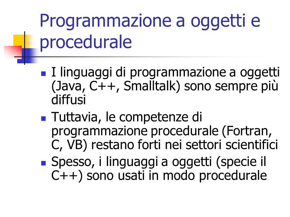 Programmazione a oggetti e procedurale