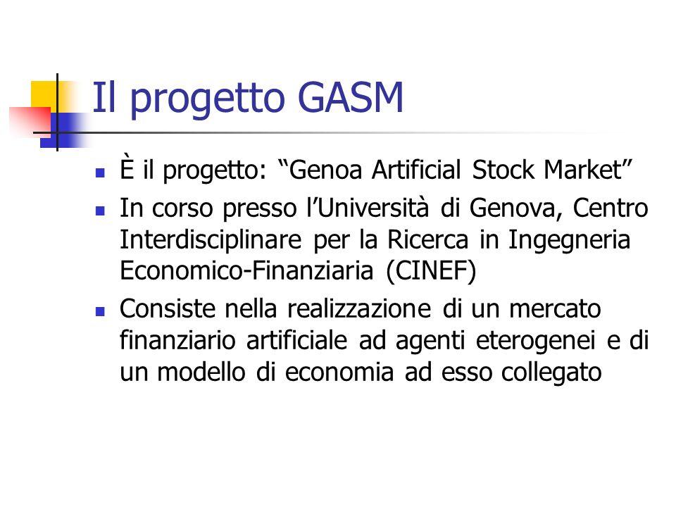 Il progetto GASM È il progetto: Genoa Artificial Stock Market