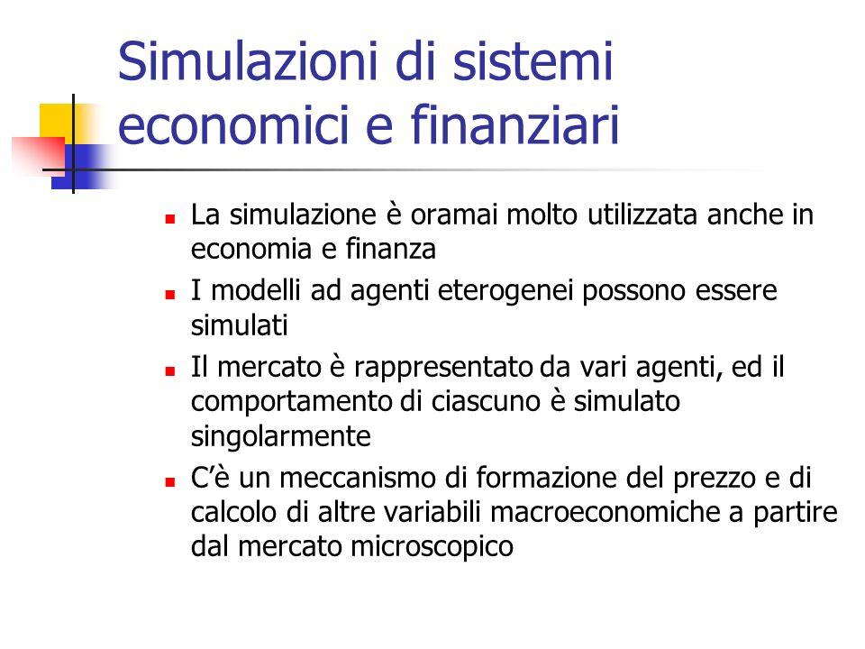 Simulazioni di sistemi economici e finanziari