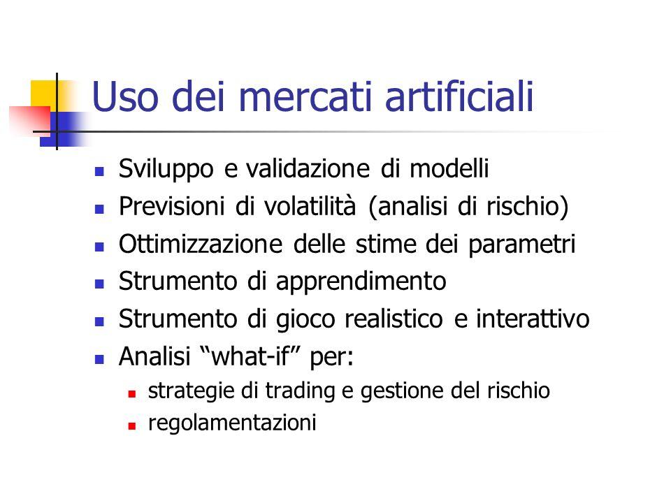 Uso dei mercati artificiali