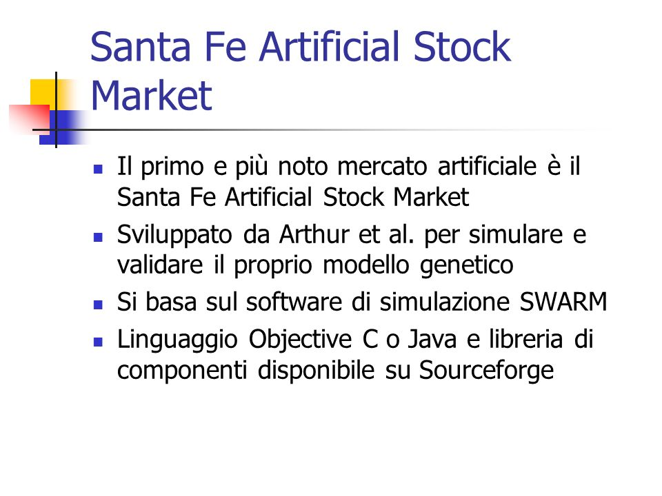 Santa Fe Artificial Stock Market