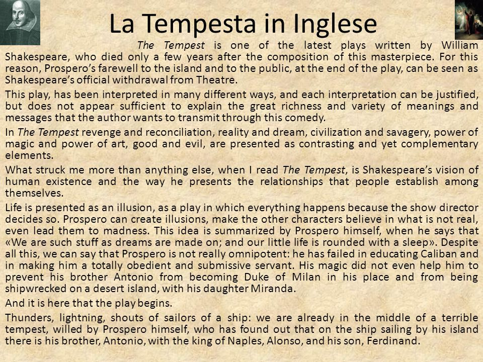 the contrasting characters of ferdinand and caliban in the tempest a play by william shakespeare Internet shakespeare editions home  69the tempest and caliban represent the most  137caliban's slavishness to ferdinand puts into play important aristotelian.