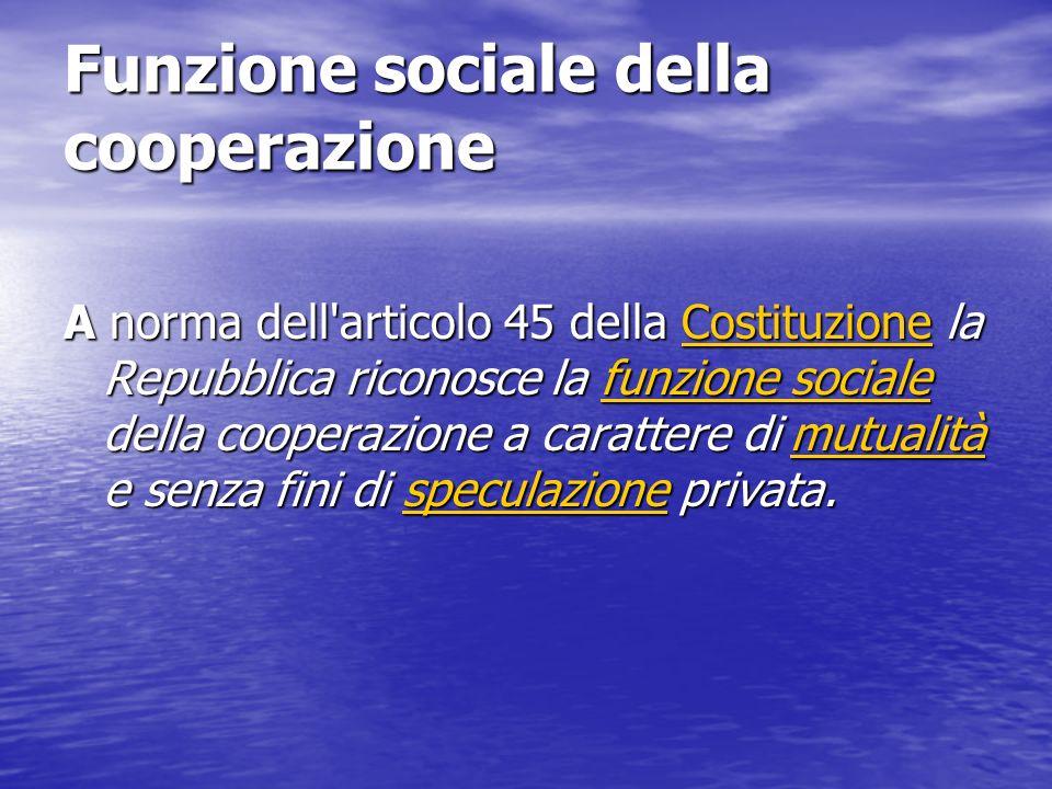 Funzione sociale della cooperazione