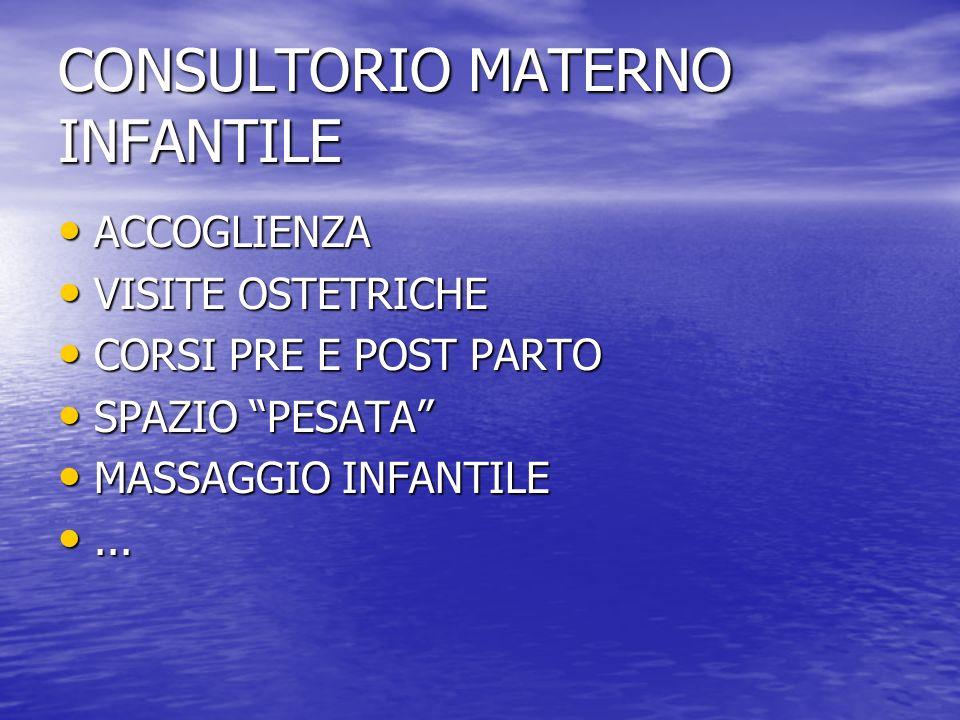 CONSULTORIO MATERNO INFANTILE