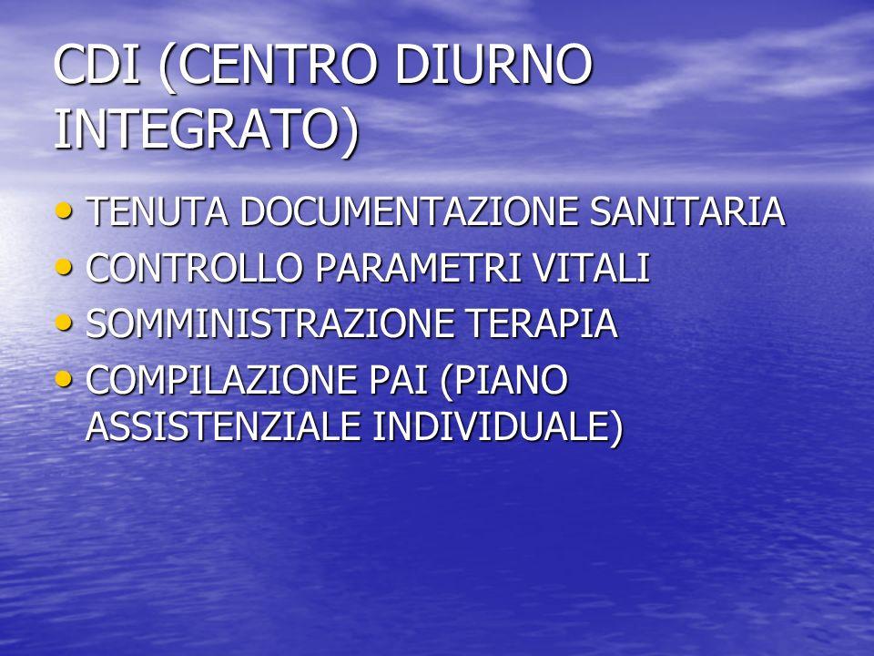 CDI (CENTRO DIURNO INTEGRATO)
