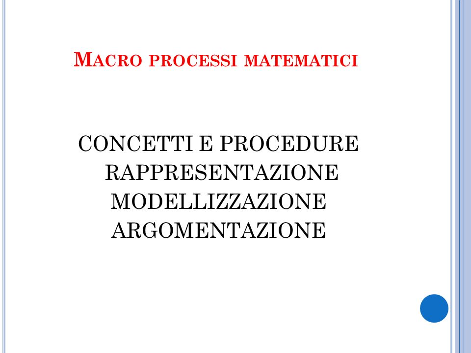 Macro processi matematici