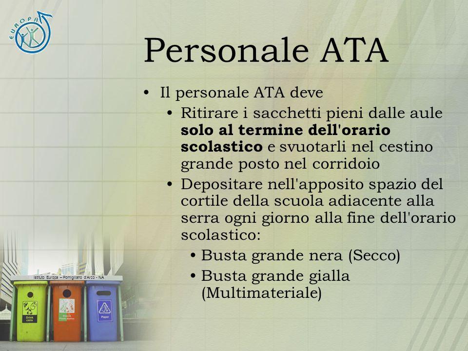 Personale ATA Il personale ATA deve