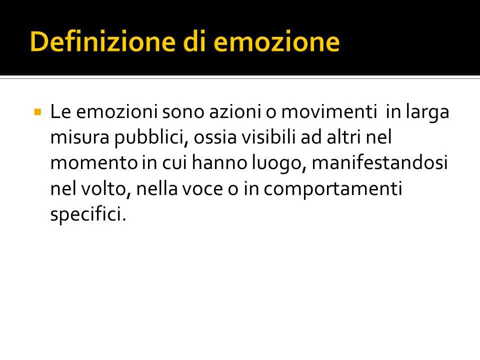 Definizione di emozione